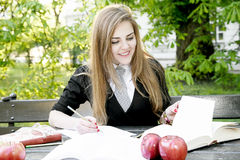 Free Girl Reading Book / Student Reading A Book/ In Park / Stock Image - 96771441