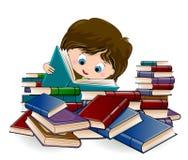 Girl reading books Stock Photography