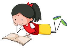 Girl reading Royalty Free Stock Photography
