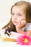 Girl reading Stock Image