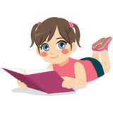 Girl Reading Fairy Tale Book Stock Image