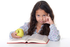 Girl reads book Royalty Free Stock Photos