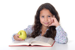 Girl reads book Royalty Free Stock Images