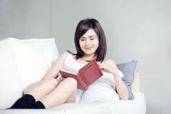 Girl reads book Royalty Free Stock Photo