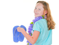 Girl ready for beach Royalty Free Stock Photography