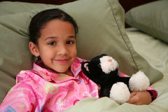Girl Ready For Bed royalty free stock image