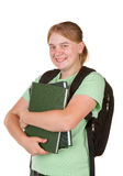 Girl ready for college Royalty Free Stock Photo