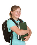 Girl ready for college Royalty Free Stock Images