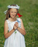 Girl ready for first holy communion Stock Image