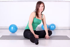 Girl ready for fitness Royalty Free Stock Images