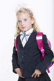 Girl is ready for new school year Royalty Free Stock Photos