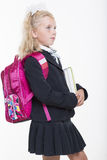Girl is ready for new school year Stock Images