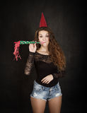 Girl ready for party Royalty Free Stock Photo