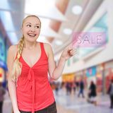 girl ready for shopping Royalty Free Stock Photo