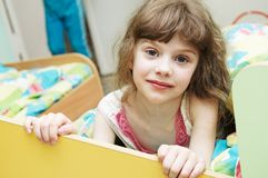 Girl ready to sleep Royalty Free Stock Photo