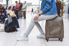Girl is ready for vacation Stock Image