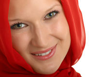 Girl in red. Beautiful girl, dressed in the Eastern or Arabic style Royalty Free Stock Photography