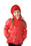 The girl in red Stock Photo