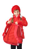 The girl in red Royalty Free Stock Image