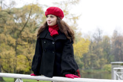 Girl in the red Royalty Free Stock Photos