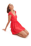 Girl in red Royalty Free Stock Photos