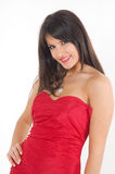 Girl in red Stock Photos