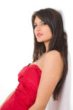 Girl in red Royalty Free Stock Images