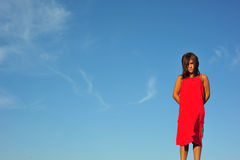 Girl in red Stock Photography