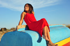 Girl in red Royalty Free Stock Photography