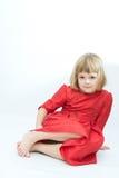 Girl in red Stock Image