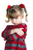 Girl in red angry Royalty Free Stock Photos
