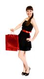 Girl with red bag Stock Photography