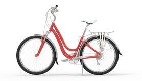 Girl Red Bike 1 Stock Photos