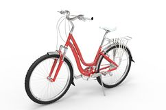 Girl Red Bike Stock Images