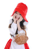 Girl in a red cap. Royalty Free Stock Photos