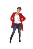 Girl in red coat. Stock Image
