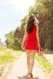 Girl in red dress Royalty Free Stock Images