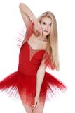 Girl in red dress Royalty Free Stock Image