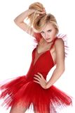 Girl in red dress Royalty Free Stock Photos