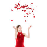 Girl in red dress Royalty Free Stock Photography