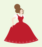 Girl with red dress Royalty Free Stock Photos
