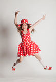 Girl in a red dress Royalty Free Stock Photos