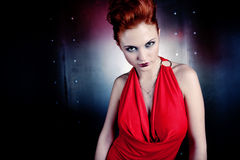 Girl red dress Royalty Free Stock Photo