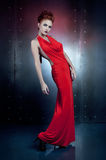 Girl red dress Royalty Free Stock Photos