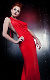 Girl red dress Royalty Free Stock Images