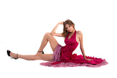 Girl in red dress Stock Photo