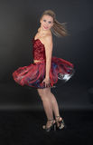 Girl in a red dress Stock Photography