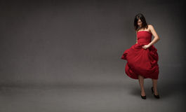 Girl in red dress Stock Photos