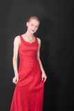 Girl in a red dress Stock Photos