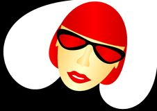 The girl in the red glasses. Royalty Free Stock Photography